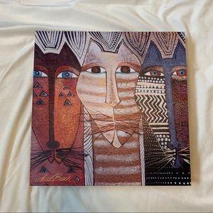 Laurel Burch Cat Canvas Art 15X15